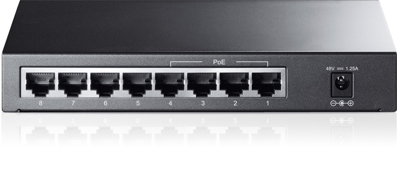Switch TP-LINK TL-SF1008P 8x 10/100 port, unmanaged, Desktop